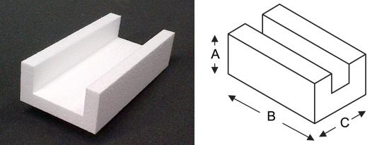 polystyrene-channel