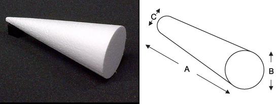 polystyrene-cone