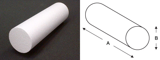 polystyrene-cylinder