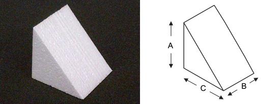 polystyrene-wedge