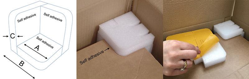 Foam Corner Protectors With Self adhesive Backing