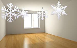 white foam snowflakes